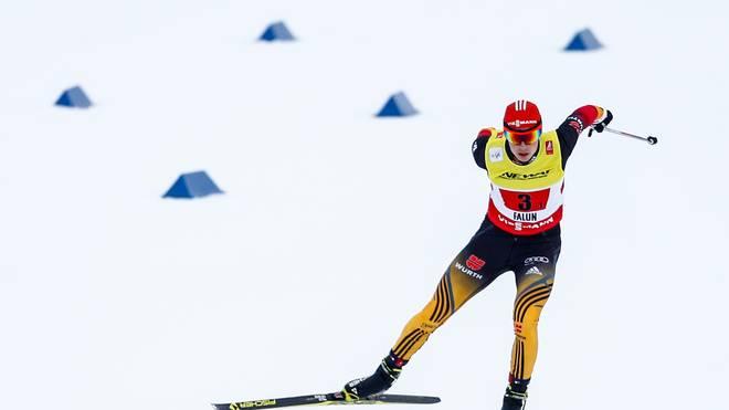 Eric Frenzel lief auf Platz zwei