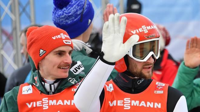NORDIC-SKI-WORLD-MEN-TEAM-JUMPING Markus Eisenbichler und Richard Freitag überzeugten beim Silbergewinn im Raw-Air-Teamwettbewerb