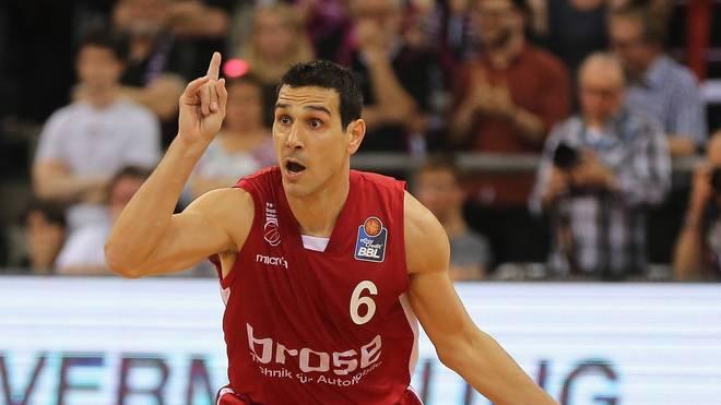 Nikolaos Zisis steuerte 17 Punkte für Bamberg bei