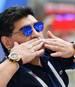 Diego Maradona lieferte bei der WM auf der Tribüne skurrile Shows ab