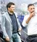 Christian Heidel (l. mit Domenico Tedesco) arbeitet seit Mai 2016 als Vorstand Sport beim FC Schalke 04