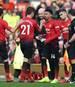 Juan Mata (l.) und Ander Herrera (2.v.l.) sollen bei Manchester United vor dem Absprung stehen