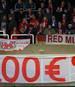 Die Fans des FC Bayern protestierten gegen die Ticket-Preise in Anderlecht