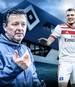 Kyriakos Papadopoulos (r.) kritisierte den neuen HSV-Coach Christian Titz (l.) zuletzt scharf