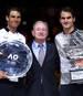 Rafael Nadal, Rod Laver und Roger Federer (v.l.n.r.) sind drei der größten Tennisspieler aller Zeiten