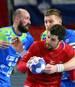 Für Slowenien (blau) und Tschechien ist die Handball-EM beendet