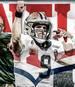 Drew Brees (m.) hat die NFL-Legenden Brett Favre (l.) und Peyton Manning (r.) überholt