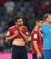 Enttäuschte Bayern nach der Pleite gegen Gladbach