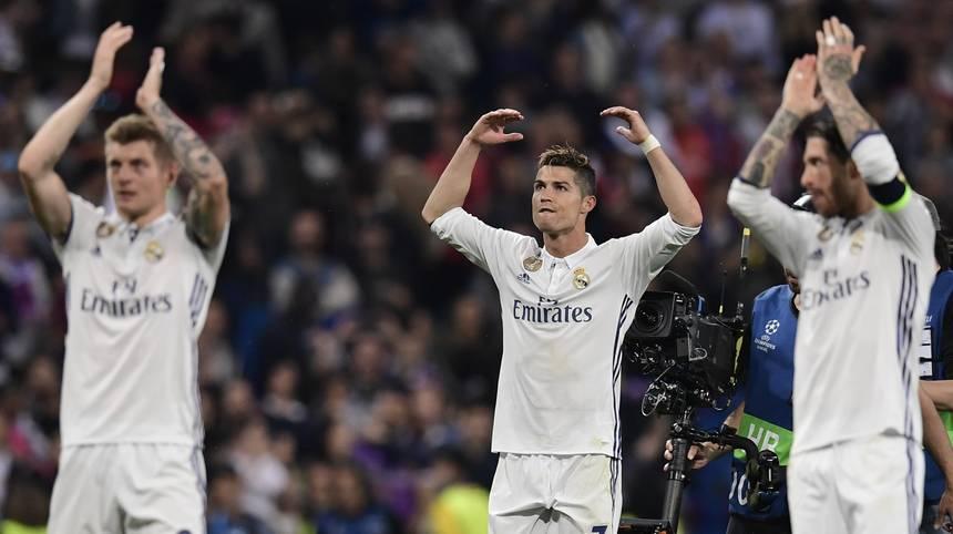 Damit ist Toni Kroos (l.) Ronaldo (M.) und Co. der Einzug ins Finale wohl kaum noch zu nehmen