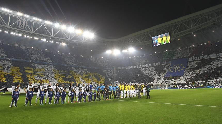 Stadionansicht vor dem Spiel zwischen Juventus Turin und Borussia Dortmund