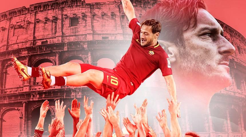 """Francesco Totti ist nicht nur beim AS Rom eine Legende. Über 770 Mal läuft er für seinen Klub auf, allein 619 Mal in der Serie A. Vor 25 Jahren betritt der """"ewige Kapitän"""" die Fußballbühne. SPORT1 zeigt die Höhepunkt einer einmaligen Karriere"""